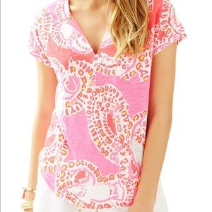 Lilly Pulitzer duval top (trunk in love)